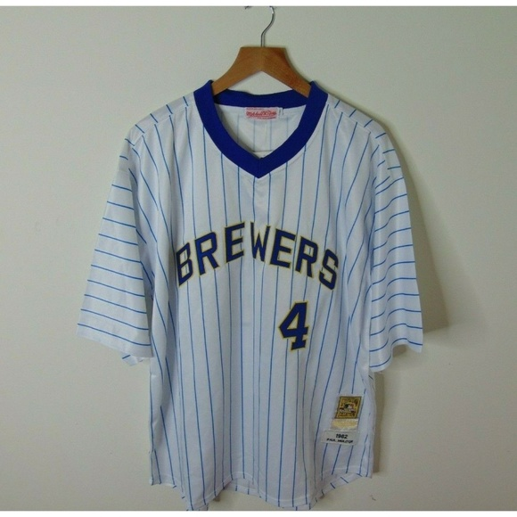 finest selection 29c8f d9828 NEW Mitchell & Ness 52 Brewers Paul Molitor Jersey NWT